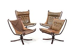 Set of Four Falcon Lounge Chairs by Sigurd Ressell