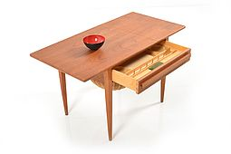 Mid Century danish Sewing Table in Teak by Johannes Andersen