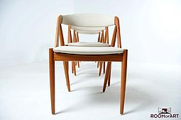 Set of Kai Kristiansen Dining Chairs in Teak