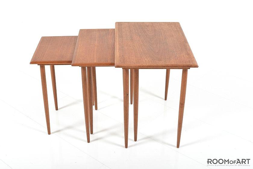 Danish Nesting Tables In Teak