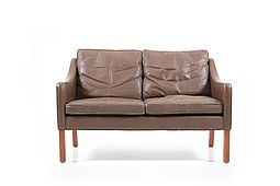 Leather Sofa 2208 by Børge Mogensen