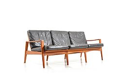 Mid Century danish Teak 3-seater Sofa by Arne Wahl Iversen for Komfort