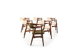 Set of Six Armchairs in Teak by Thomas Harlev for Farstrup Stolefabrik