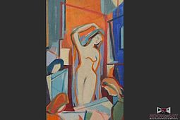 Cubism Painting / Female Nude