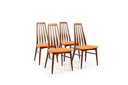 Set of Four Teak Dining Chairs by Niels Koefoed