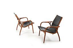 Pair of old Laminett Chairs by Yngve Ekström for Swedese