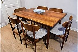 Dining Set in Palisander by Arne Vodder