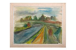 Fine impressionist Painting / Watercolor a. 1930-40 Classic Modern Art