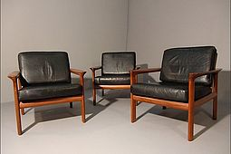 Three Easychairs in Teak by Komfort