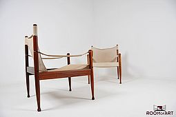 Pair of Safari Easy Chairs by Erik Wørts