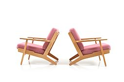 GE-290 / Pair of Easychair in Oak by Hans J. Wegner