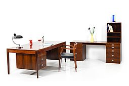 "Early Finn Juhl ""Diplomat Series"" Rosewood Desk and Modular Sideboard"