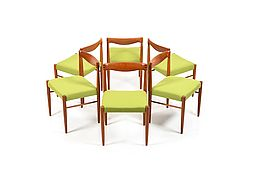 Set of 6 Teak Dining Chairs by Henry W. Klein for Bramin