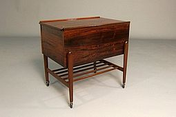 Sewing-Trolley in Palisander/Rosewood