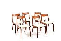 Set of 6 Boomerang Teak Chairs by Alfred Christensen
