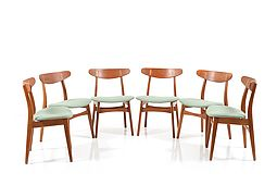 Set of six Hans Wegner CH-30 Chairs
