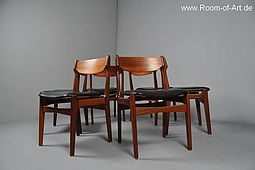 Set of 6 Dining Chairs in solid Teak