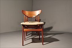 Set of four Dining Chairs in Teak by Schiönning & Elgaard Randers