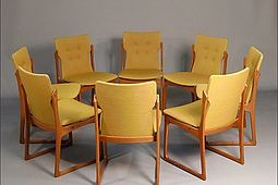 Set of 8 Danish Chairs in solid Teak