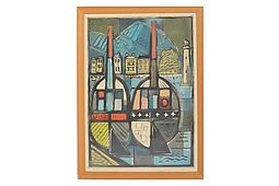 "Wolf HOFFMANN (1898-1979) Lithography ""Industries"""