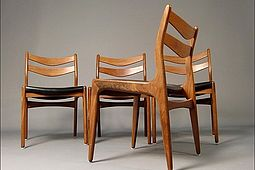 Set of 4 Dining Chairs in Teak