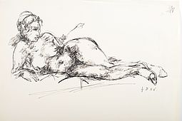 Joachim Dunkel 'Female Nude' Drawing