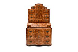 Original Baroque Tabernacle/Secretaire, South-Germany 18th Century
