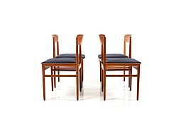 Early Set of 4 Danish Dining Chairs in Teak ca.1948-1950