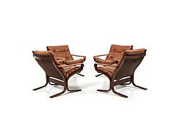 Set of four Siesta Lounge Chairs by Ingmar Relling for Westnofa