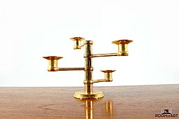 1960s Danish gilded Candlestick