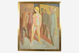 Harald Wilhelm LAUESEN (1913-1989) Nude and the Men