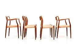 Set of four Dining Chairs in Teak by Niels O. Moller, Model No.79