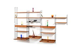 Teak Shelf System by Kajsa & Nils Nisse Strinning for String Design 1950s