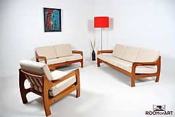 Organic Seating-Group in Teak / 3-2-1