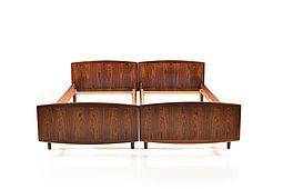 Pair of Mid Century danish Rosewood Beds