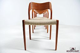 Six Dining Chairs, Model 71 by N.O.Möller
