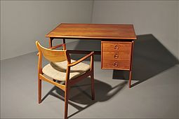 Danish Writing Desk & Chair in Teak