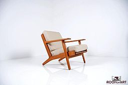 GE-290 / Easychair in Teak by Hans J.Wegner