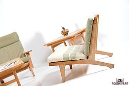 GE-375 Easychair in Oak by Hans J. Wegner
