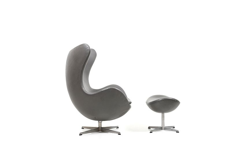 De Egg Chair.Rare And Old Edition Arne Jacobsen Egg Chair With Tilt Function