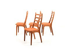 Set of 4 Kai Kristiansen Dining Chairs in Teak