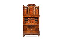 Rare North German Altona Empire Secretary, circa 1810-1815