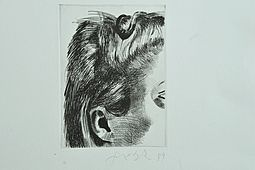 "Fine Drawing ""Face"", hand signed"