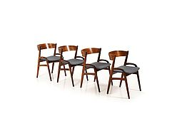 Set of Danish organic shaped Dining Chairs