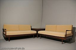Pair of Daybeds & Cornertable by Knoll