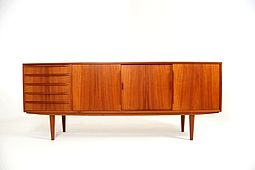 Low Sideboard in Teak by Kai Kristiansen