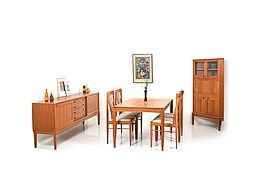 Danish Dining Room Set by H. W. Klein for Bramin