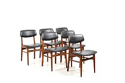 Set of 6 Danish Dining Chairs in Teak 1960s.