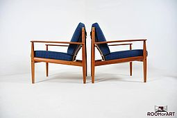Pair of Easychairs, Model 118 by Grete Jalk