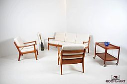 Three seater Sofa in Teak by Ole Wanscher